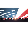 holiday 4th july banner people silhouettes vector image vector image