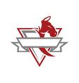 horse esport vintage logo vector image vector image