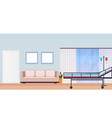 hospital room interior intensive therapy patient vector image vector image