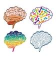 Human organ set of Brain icon graphic vector image
