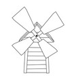 image of the mill vector image vector image