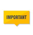 important price tag vector image vector image