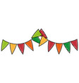 isolated cute party flags vector image vector image