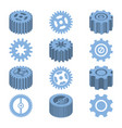 isometric gears set mechanical design vector image vector image