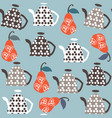kettle fantasy seamless pattern it is located in vector image