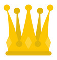 kingly crown icon isolated vector image vector image