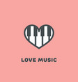 love music logo vector image