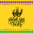 mardi gras hand lettering fat tuesday vector image
