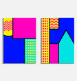 memphis poster set geometric elements in the vector image