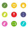 method icons set flat style vector image vector image