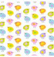 pastel easter baby chicks vector image vector image