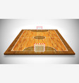 perspective of hardwood futsal court or field eps vector image