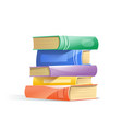 pile of books isolated on a white background vector image