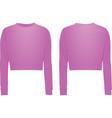 pink crop sweater vector image