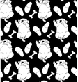 Puppy cute rest sleep relax seamless pattern black vector image vector image