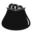 purse money icon simple black style vector image
