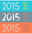 set happy new year 2015 banner for holiday vector image