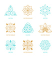 set logo design templates and symbols vector image vector image