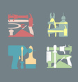 Set logos Construction tools vector image