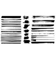 set of different grunge brush strokes set of vector image