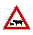 Sheep flock warning sign vector image