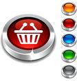 Shopping 3d button vector image vector image
