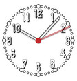simple black and white thirty-eighth edition clock vector image vector image