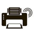 smart printer icon simple style vector image vector image