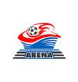 soccer football ball at arena stadium icon vector image vector image