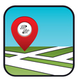 Street map icon with the pointer fish restaurant