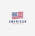 strip american flag logo design vintage usa