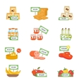 Supermarket Icons Set vector image vector image