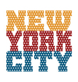 T shirt typography New York blue red orange stars vector image vector image