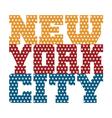 t shirt typography new york blue red orange stars vector image vector image