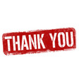 thank you sign or stamp vector image