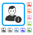 user info framed pitiful icon vector image vector image