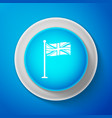 white flag of great britain on flagpole icon vector image vector image