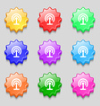 Wifi icon sign symbol on nine wavy colourful vector image vector image
