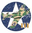 world war ii aircraft - ii vector image vector image