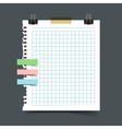 Paper sheet torn from a notebook vector image