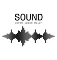 sound waves music digital equalizer audio vector image