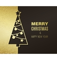 Christmas tree with glitter effect vector image