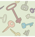 Seamless background with keys in bright colors vector image
