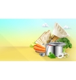 Cooking background vector image