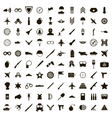 100 military icons set simple style