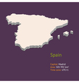 3d map spain vector image