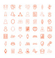 49 profile icons vector image vector image