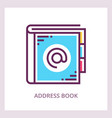 address book icon business concept vector image vector image