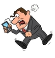 Angry businessman screaming vector image vector image