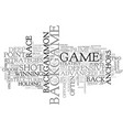 backgammon strategy advanced backgame advice text vector image vector image